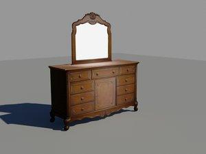 3ds max wooden dresser