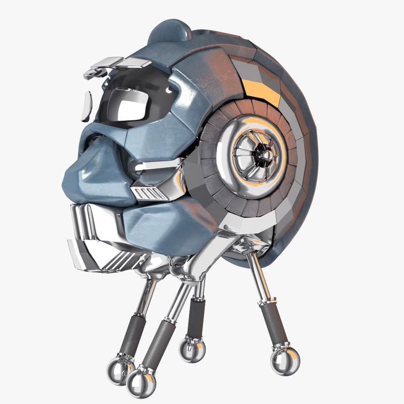 transformer head robot 3d 3ds