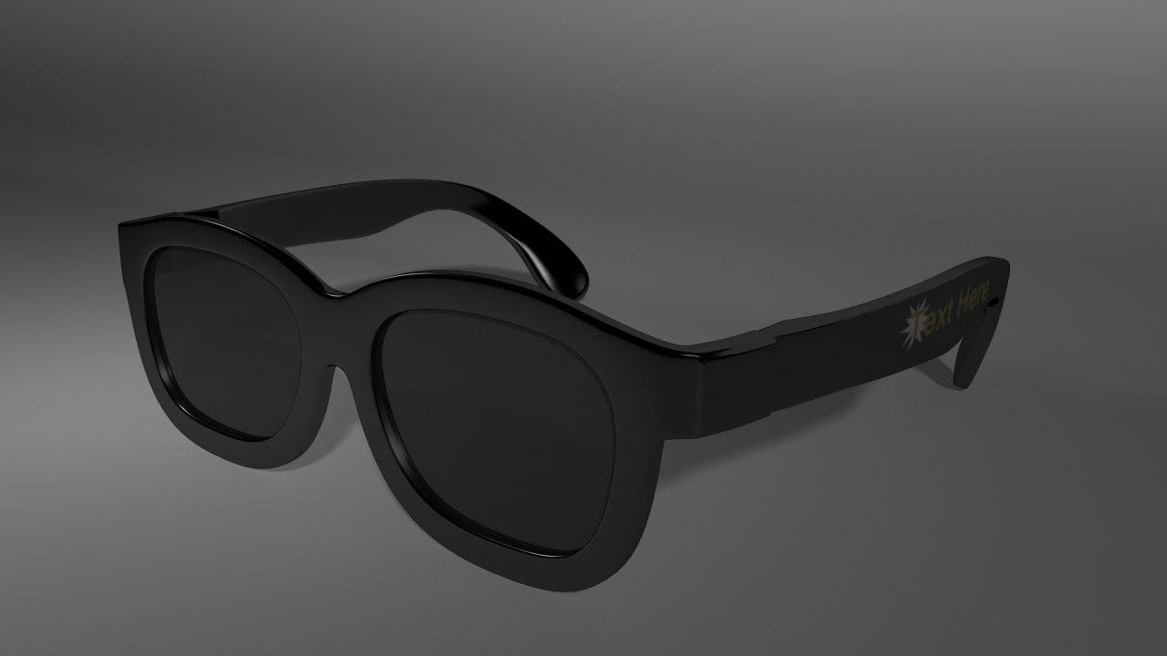 glasses cinemas 3d obj