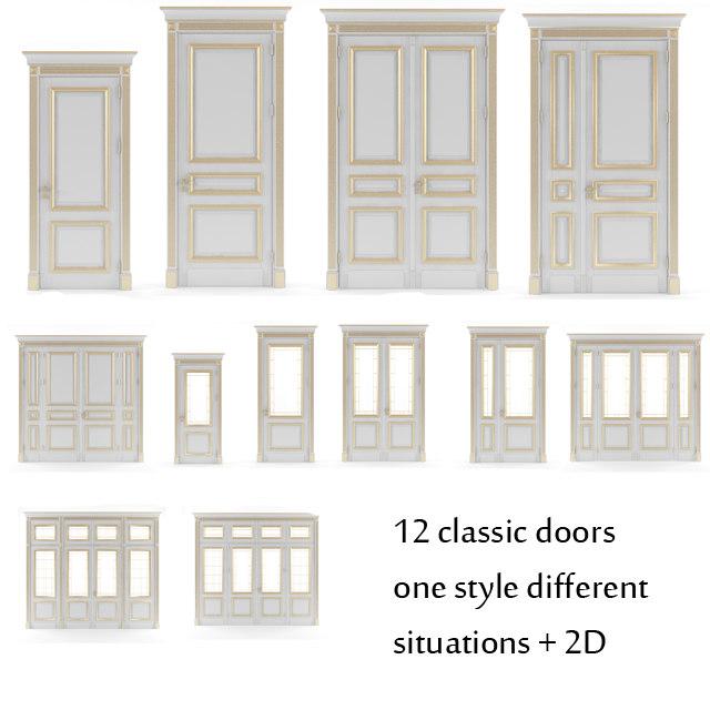 door v-ray classic 3d model