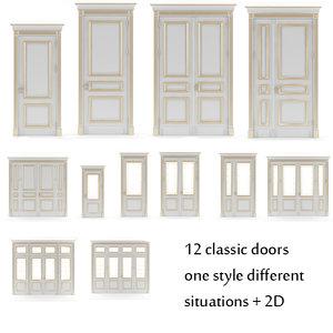 3d door v-ray classic
