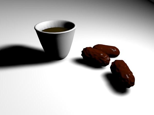 3d dates coffee model
