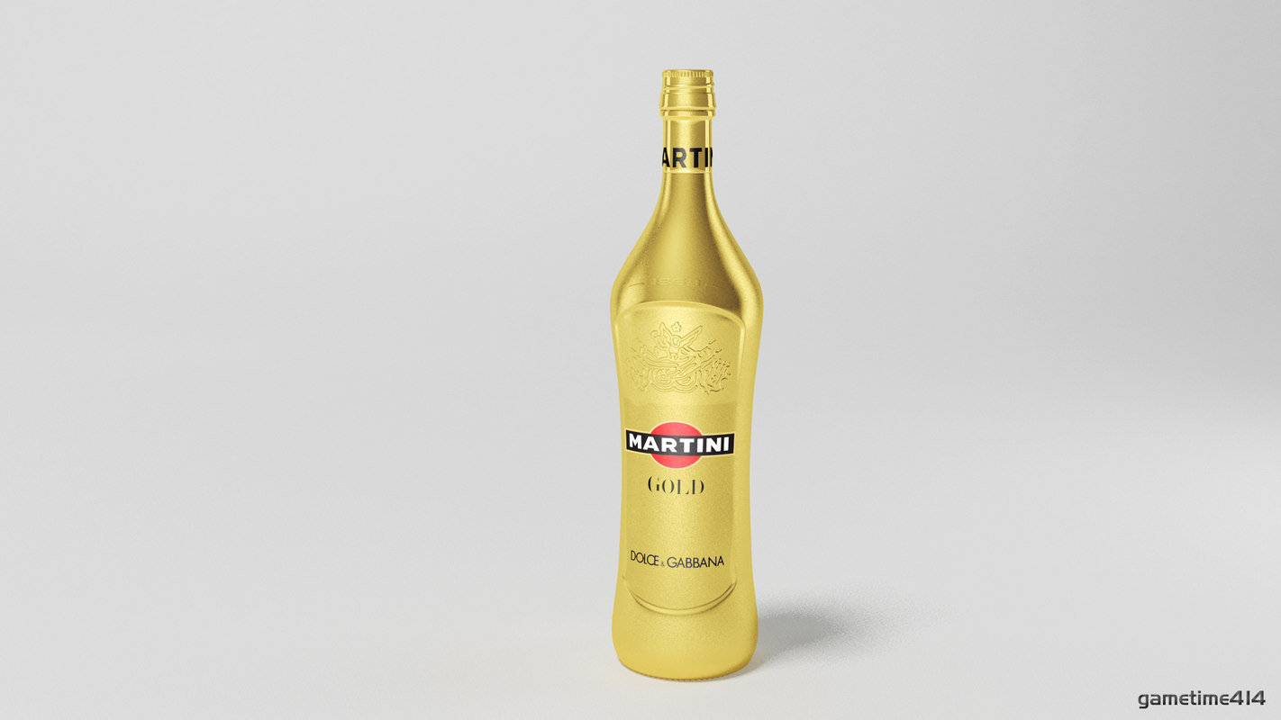 martini bottle 3d max