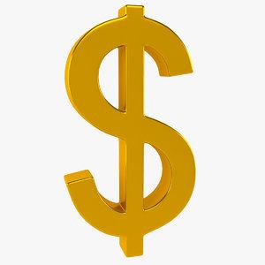 monetary symbol 3d max