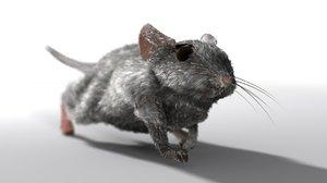 mouse hair fur 3d model