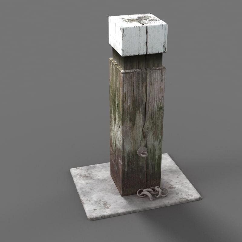 post path walking 3d model