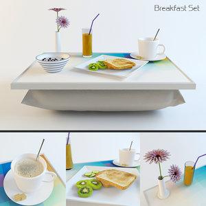 breakfast set 3d max