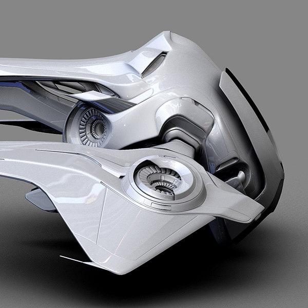 spaceship futuristic obj