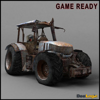 rusty tractor 3d