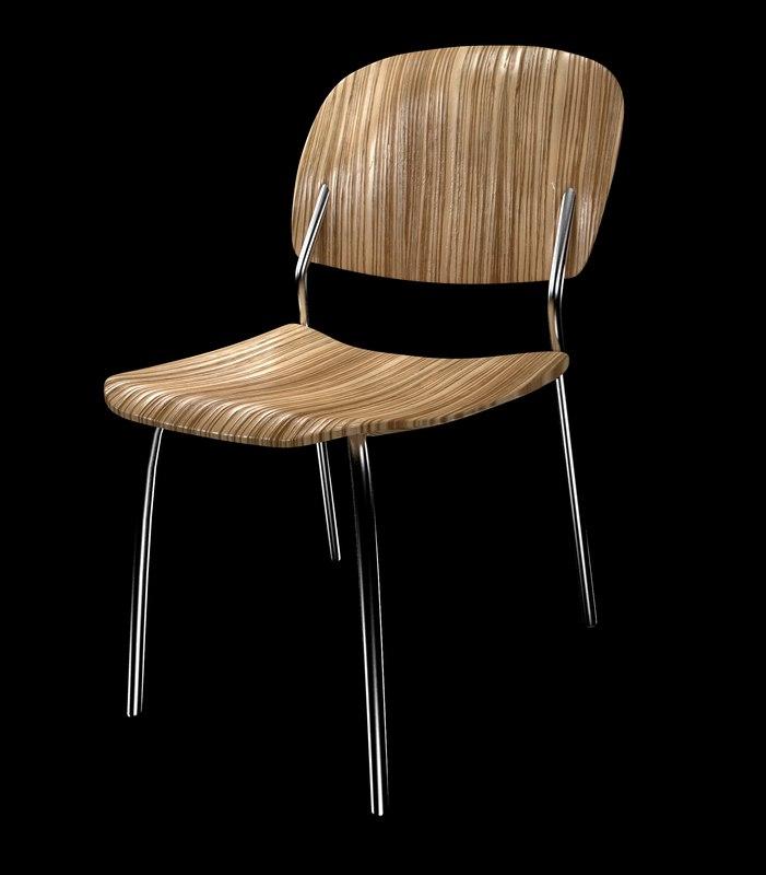 3ds max zebra chair wood