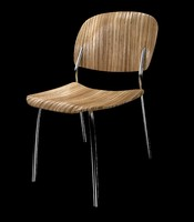 Zebra Wood Chair