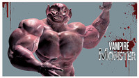 3d model vampire monster