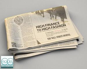 3d model wall street newspaper