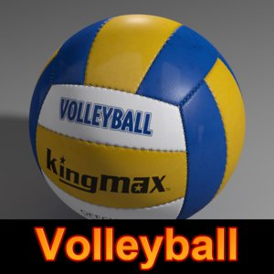 3d volleyball volley ball model