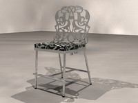 chair metal design 3d model