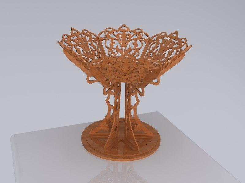 3d vase sweets 01 model
