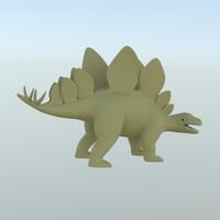 lwo stegosaurus toy