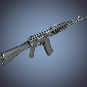 3d kalashnikov ak- assault rifle odel