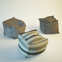 Three models pouf