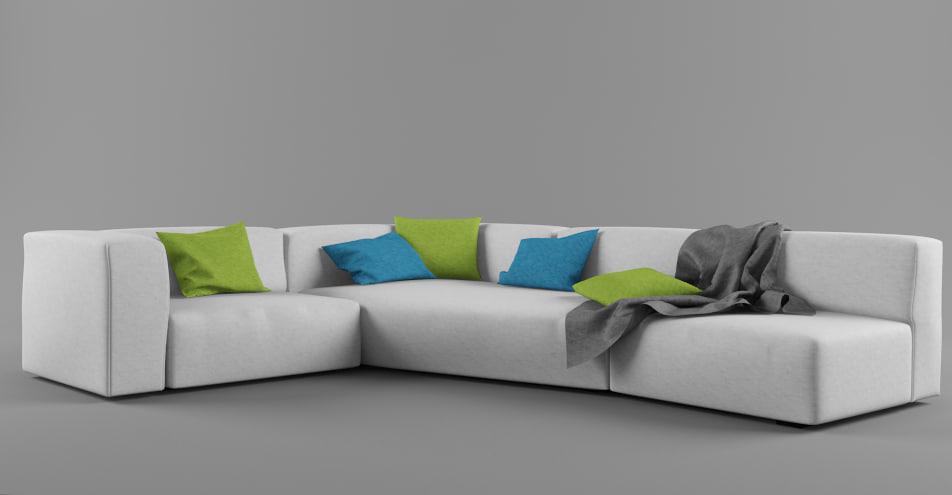 mdf italia mate sofa 3d obj