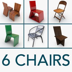 6 chairs obj