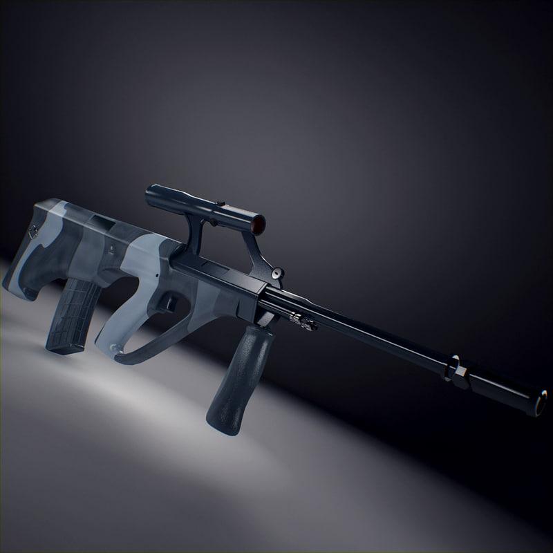 3d steyr aug assault rifle model