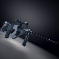 3d steyr aug assault rifle model