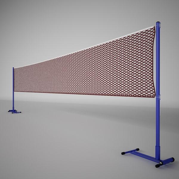 3dsmax badminton net