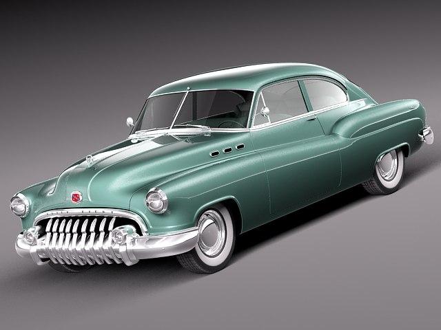 classic antique buick 1950 c4d