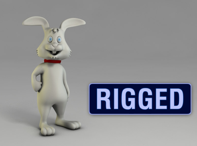 3d model of character bunny