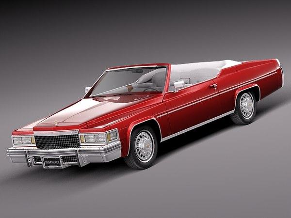 3d classic antique luxury convertible model