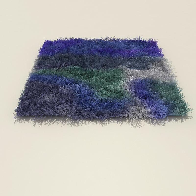 fur rug 3d model