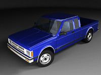 chevrolet s-10 cab fl 3d model