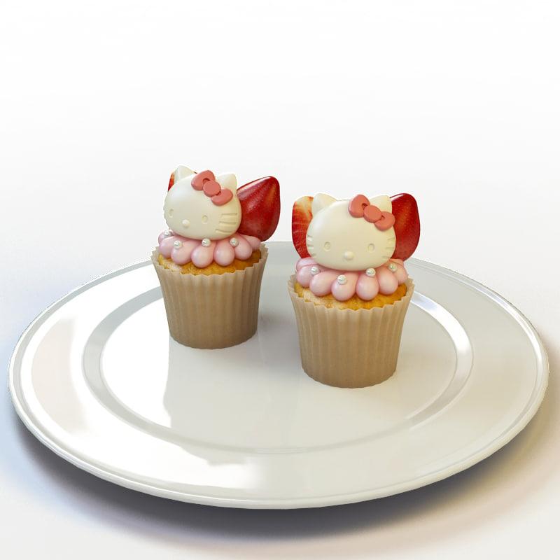3d cupcake 011 model