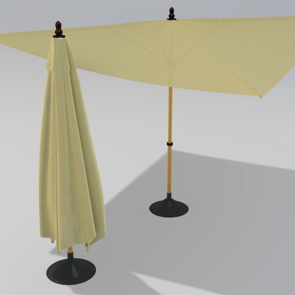 square patio umbrella 3ds