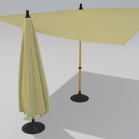 square patio umbrella 3ds