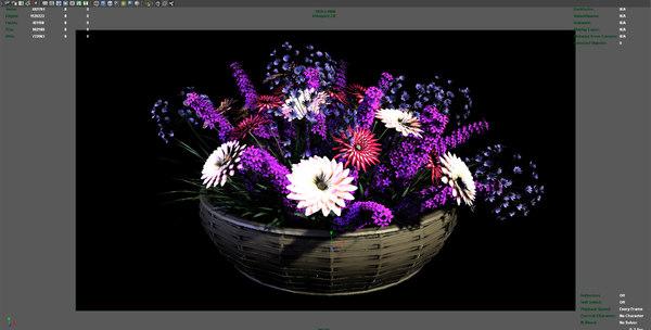 3d model flower arrangement