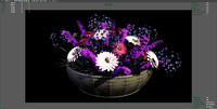 3d model flower arrangement