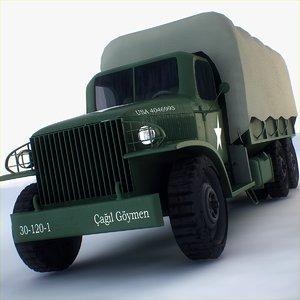 gai-353 military transportation 3d model