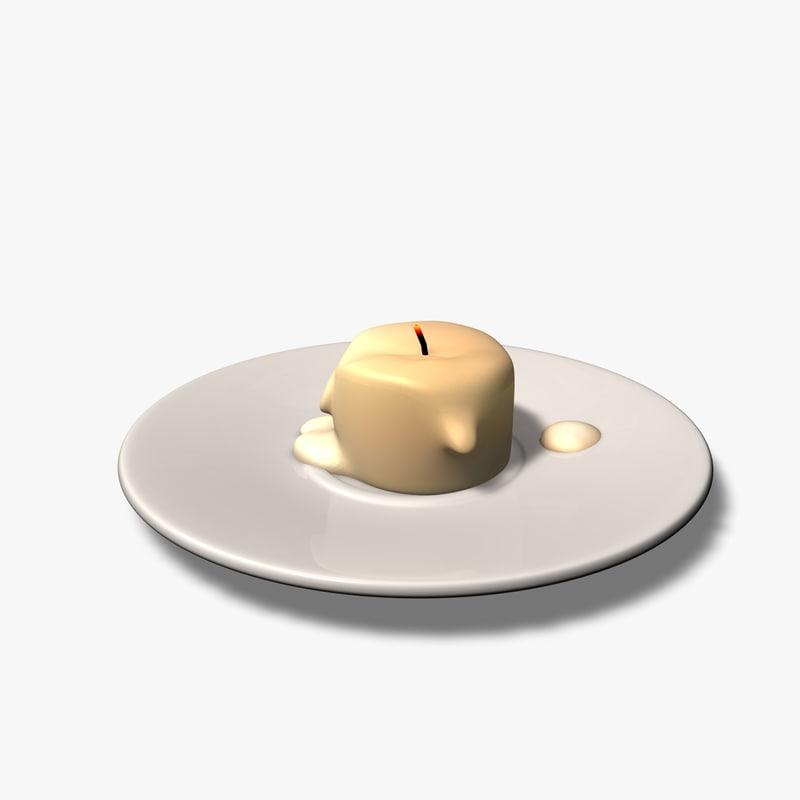 candle light 3d c4d