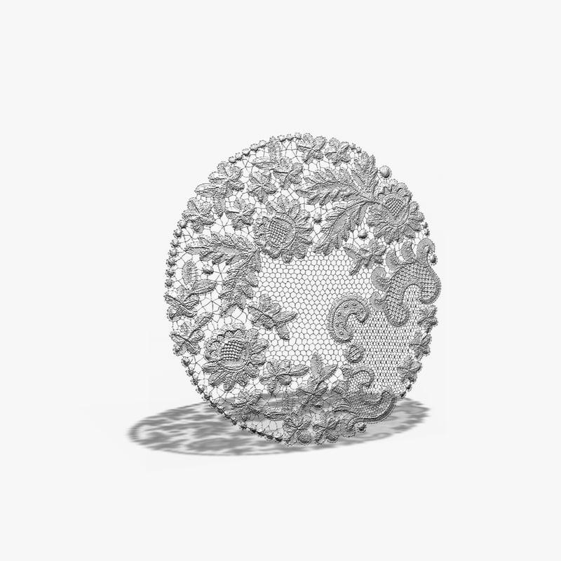 lace mat 3d model
