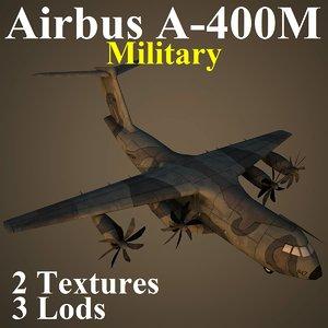 3d model airbus a400m mil