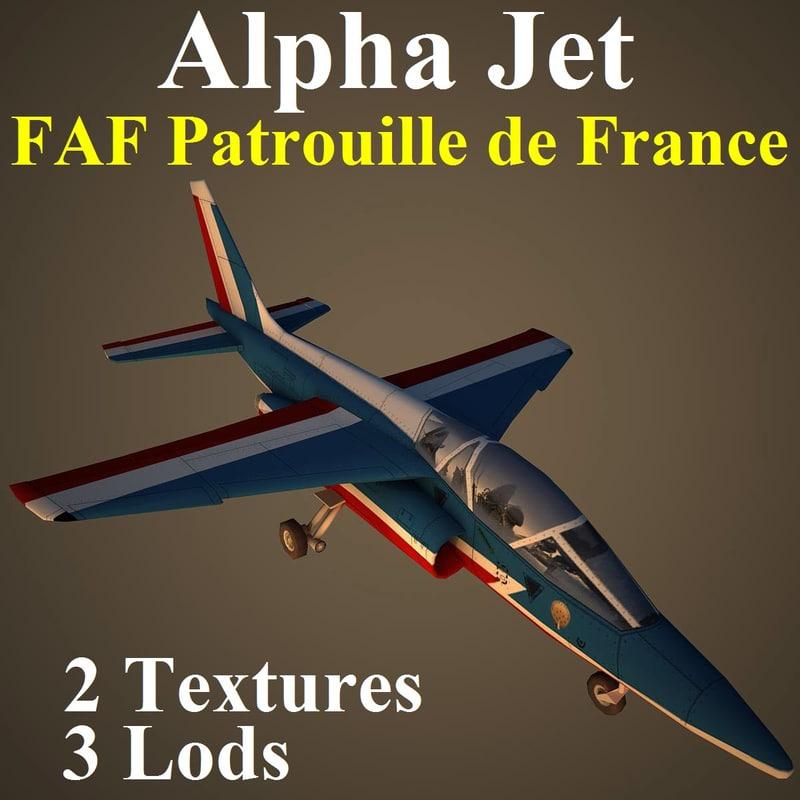 alpha jet faf aircraft 3d model