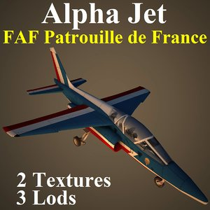alpha jet faf aircraft 3d model