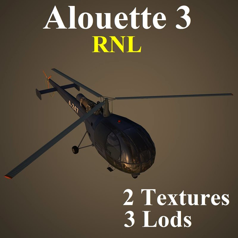 max alouette rnl helicopter