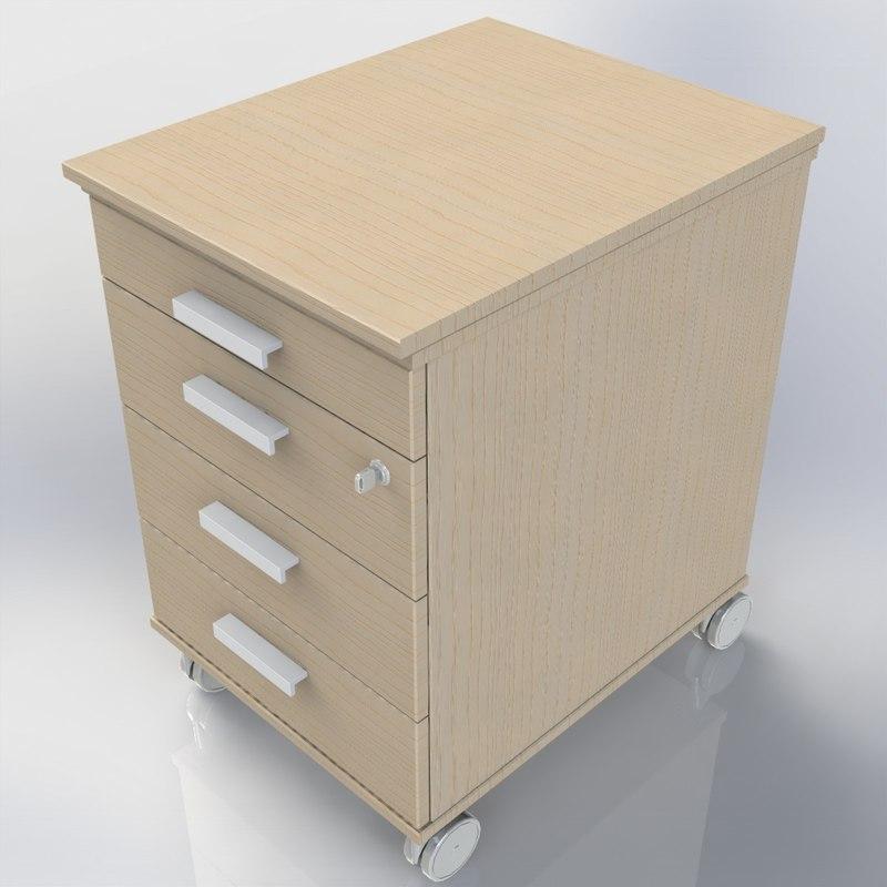 3d model of cupboard office