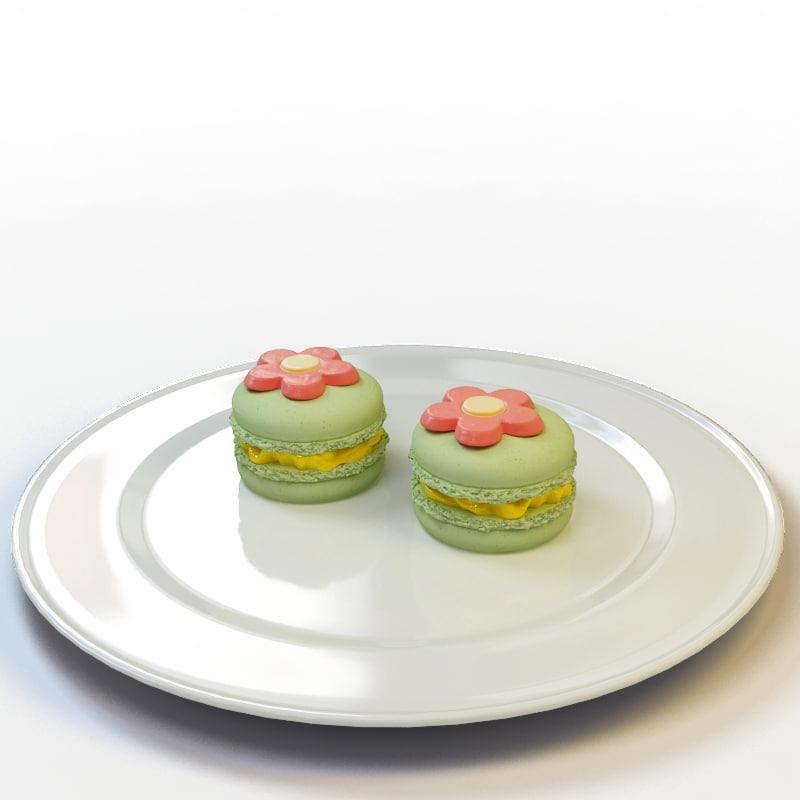 3d macaron 009 model