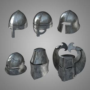 obj medieval helmets helm