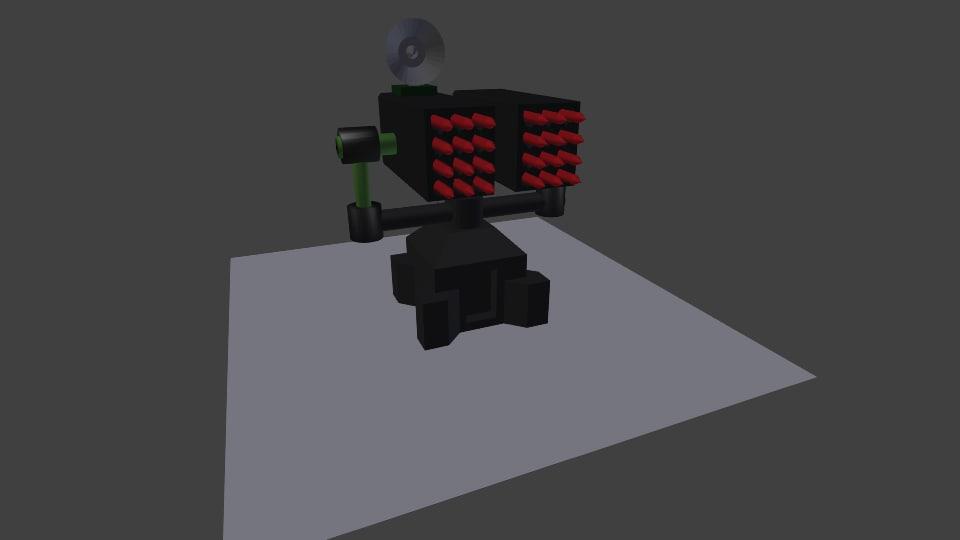 3d sam missile turret model