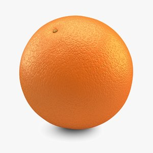 free 3ds model orange resolution photorealistic
